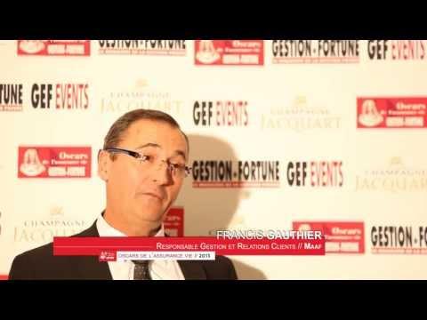 Francis Gauthier aux 28e Oscars de l'Assurance Vie