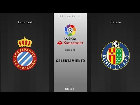 Calentamiento Espanyol vs Getafe