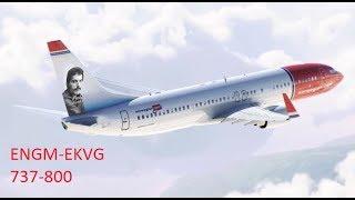 XPLANE11//ENGM-EKVG//ZIBO 737-8