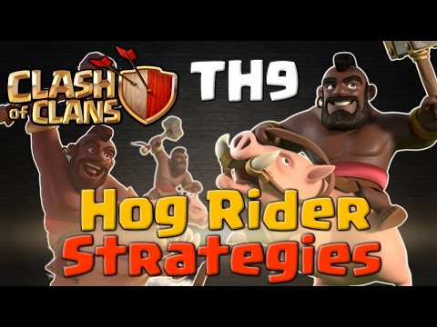 TH9 Hog Rider Strategies - 3 Star Attacks | Clash of Clans