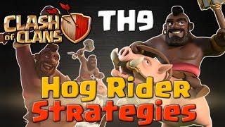 TH9 Hog Rider Strategies - 3 Star Attacks | Clash of Clans