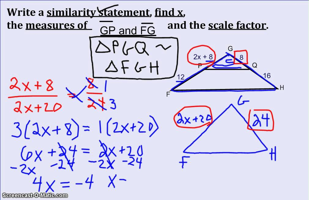 similarity statement and scale factor 2  youtube