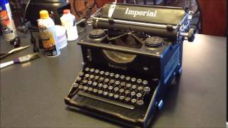 Typewriter Cleaning Tips ..and the Imperial 50