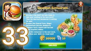 Cooking Fever - Gameplay Walkthrough Part 33 - Gourmet Restaurant Level 1 - 5 (iOS, Android) screenshot 3