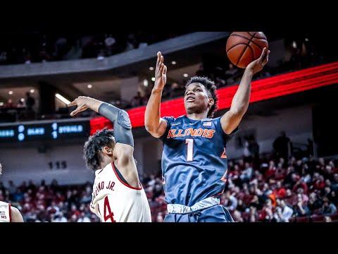 Illinois Men's Basketball Highlights at Nebraska 1/15/18