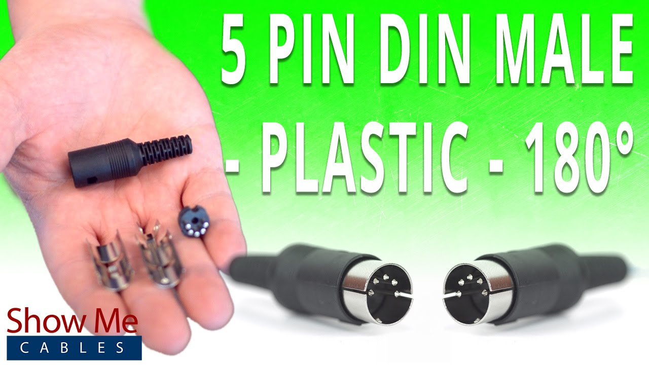 5pin plug part - 5 pin DIN end solder type - end DIN replacement plug