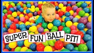 SUPER FUN INDOOR PLAYGROUND & BALL PIT! (DAY 893)