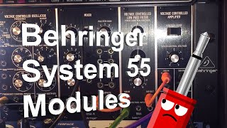 Behringer System 55: 902, 904A, 921 & CP3A (No Talking)