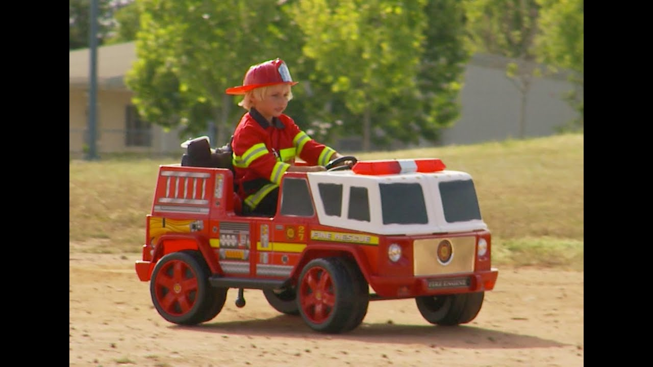 Kids Fire Engine Ride On Unboxing And Review Funnycat Tv