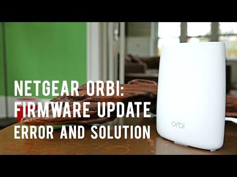 Netgear Orbi Firmware Update: Error and Solution - YouTube