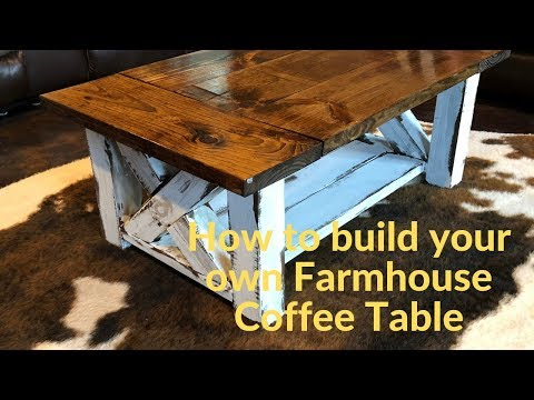 How to build a simple Farmhouse Coffee Table