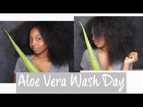 Wash Day Routine Using Aloe Vera