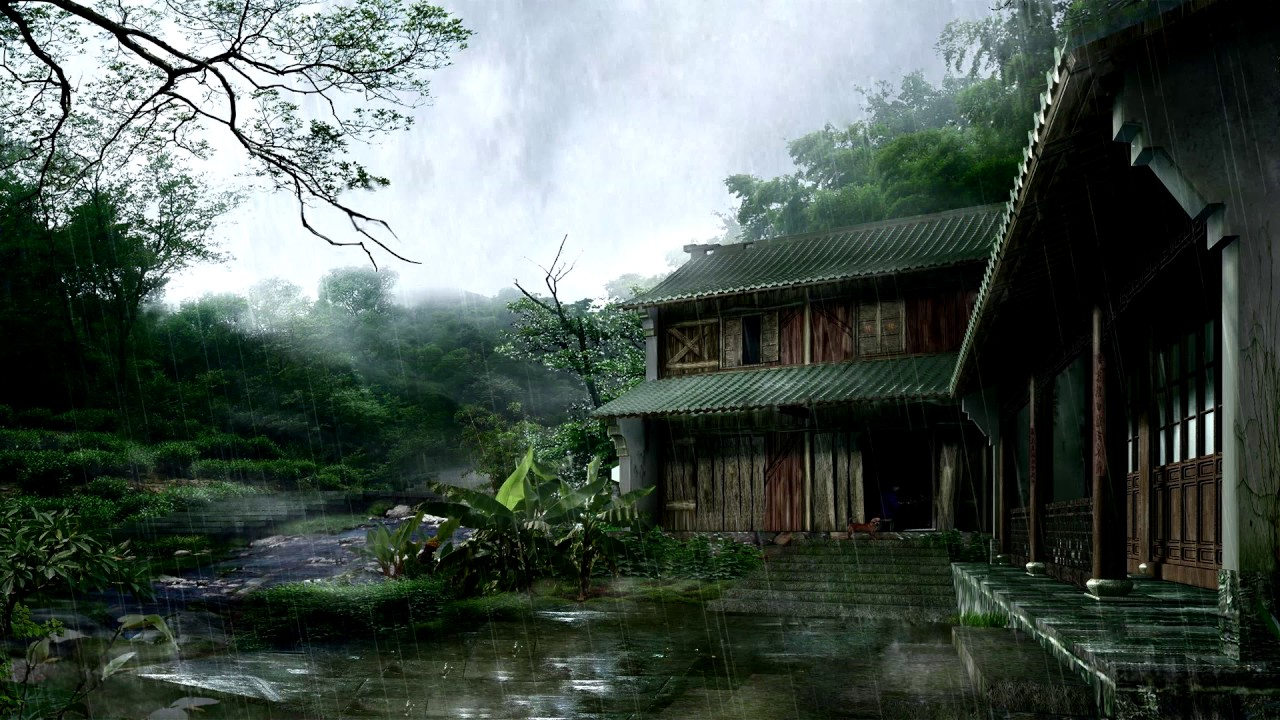 Wallpaper engine anime forest rain preview youtube - Art village wallpaper ...