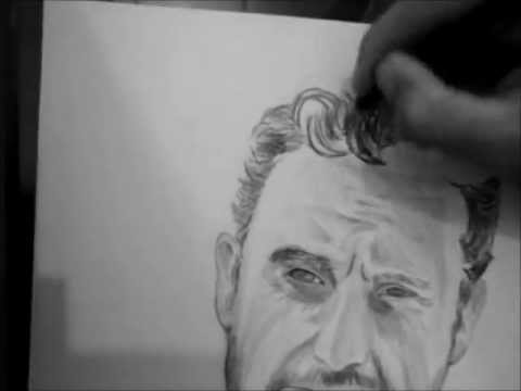 Desenhando O Rick Drawing The Walking Dead Youtube