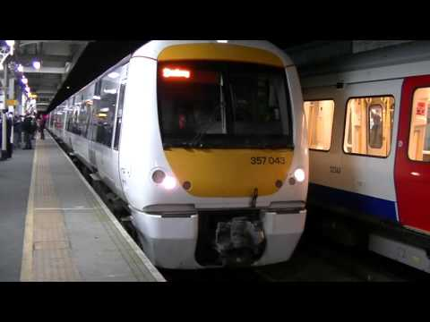 c2c 375043 and 357012 departing Barking
