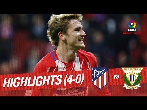 Resumen de Atlético de Madrid vs CD Leganés (4-0)