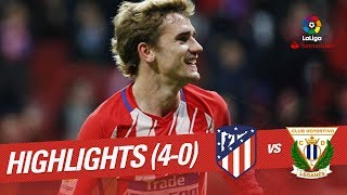Resumen de Atlético de Madrid vs CD Leganés (4-0)