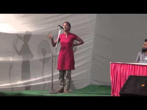 Dipsita Dhar from SFI speaks at JNUSU Elections 2015-16 Debate