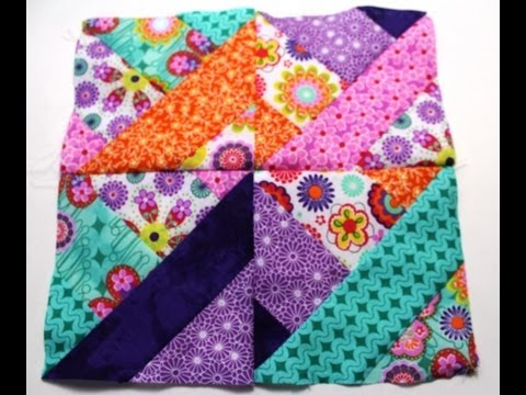 How to sew #Quilt squares using Fabric Jelly Roll -  Video t
