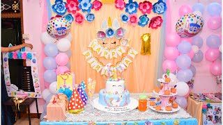 Best Birthday Party Decoration Ideas At Home For Boy My Son 1st Birthday Decoration Unicorn Theme Youtube