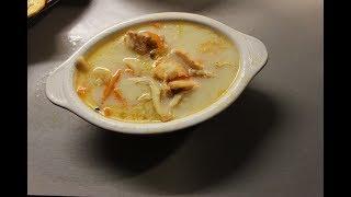Норвежский сливочный суп из сёмги.  Очень вкусный.