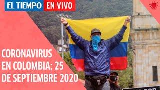 Coronavirus en Colombia: 25 de septiembre del 2020