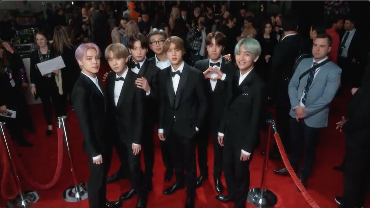 Bts 2019 Grammy Awards Red Carpet Compilation Youtube