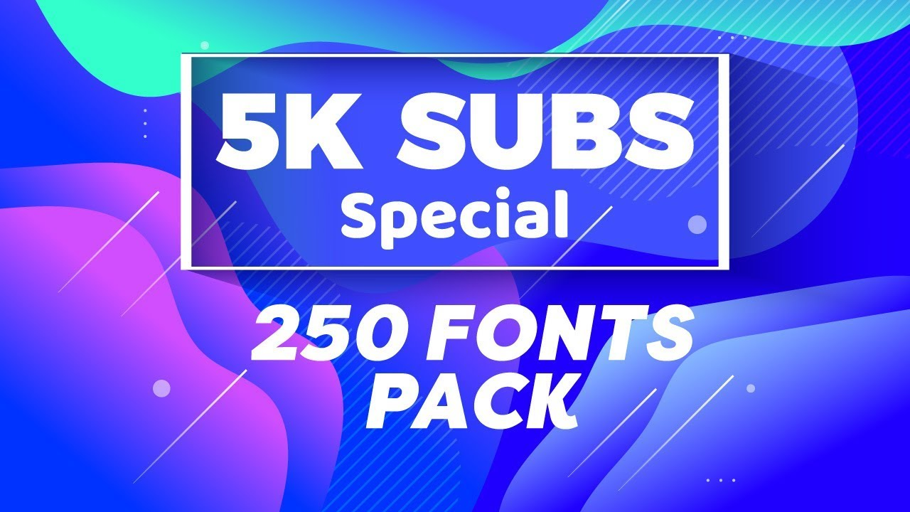Download BEST 250 Fonts Pack | FREE Download (5K Subscribers ...