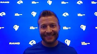 Sean McVay Talks Practicing In Front Of Fans At SoFi Stadium, Conclusion Of Offseason Program