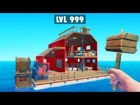 We BUILT The BEST FLOATING MANSION! (Raft)