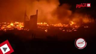 النيران تلتهم استوديو النحاس بالهرم (اتفرج)