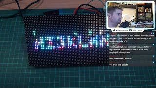 Maker Monday - Adding text to Tetris Animation library
