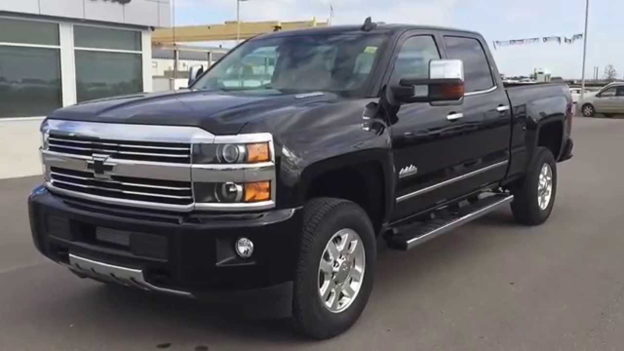 black 2015 chevrolet silverado high country srw 4wd heavy duty truck at scougall motors youtube. Black Bedroom Furniture Sets. Home Design Ideas