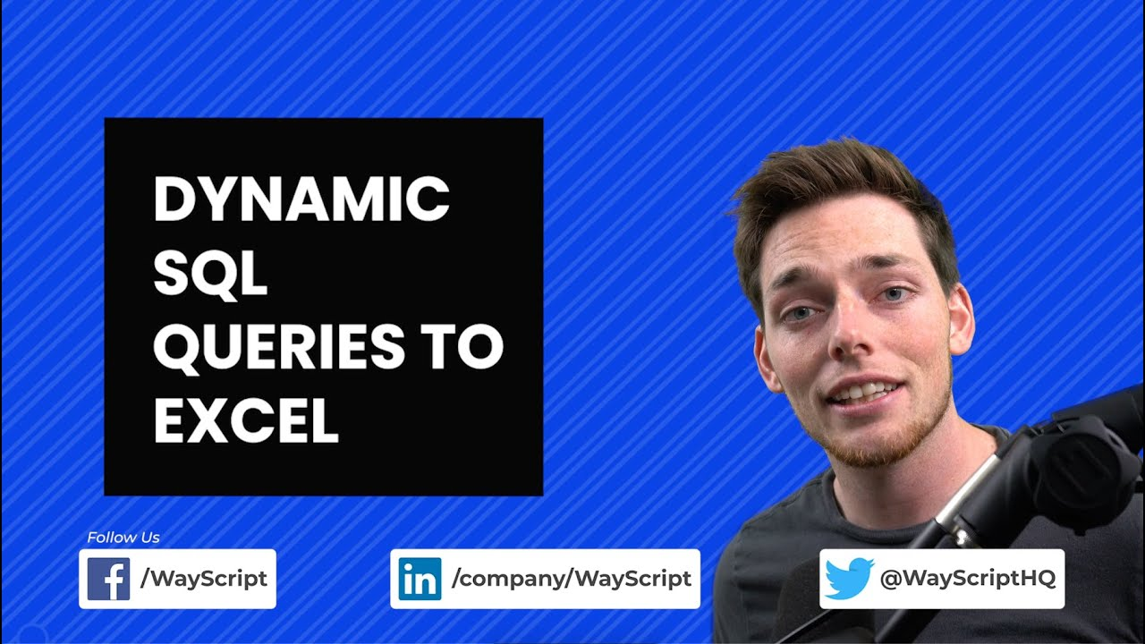 Write Dynamic Files from SQL Data to Excel Workbooks