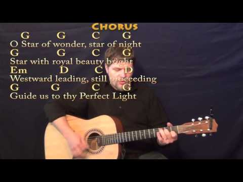 We Three Kings (Christmas) Strum Guitar Cover Lesson in Em with Chords/Lyrics