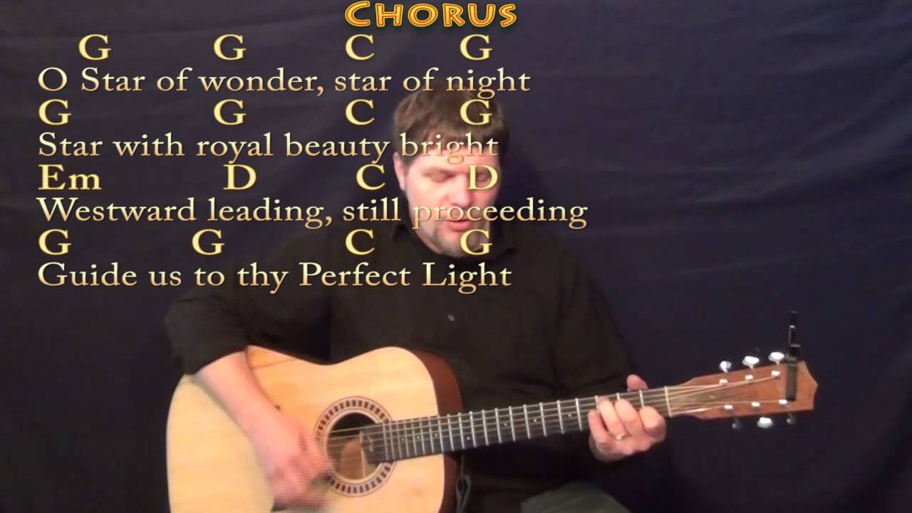 We Three Kings (Christmas) Strum Guitar Cover Lesson in Em with Chords/Lyrics - YouTube