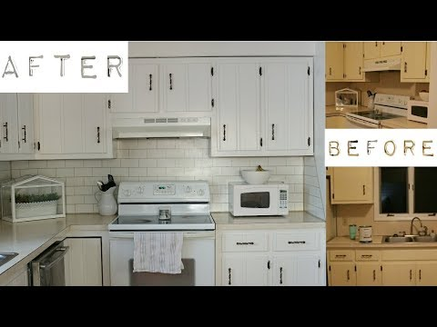 Farmhouse Kitchen Makeover | Budget Friendly | Painting Subway Tiles | Adaline Zook