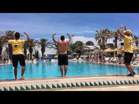 Тунис. Magic Hammamet Beach. Май 2017. Animation. Танец у бассейна