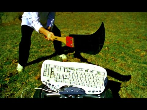 Download Youtube: Keyboard at 5,000 fps! - Slow Mo Sledgehammer Destruction - Slow Mo Lab