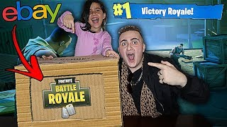 FORTNITE $1000 EBAY MYSTERY BOX UNBOXING WITH 5 YEAR OLD LITTLE SISTER!!