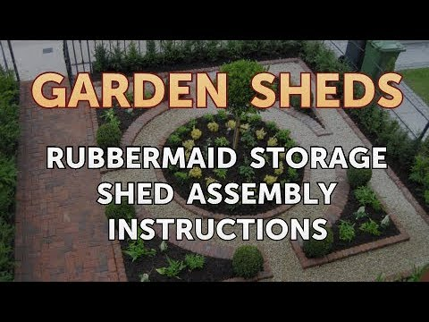 How To Assemble Rubbermaid Slim Jim Shed - How To Assemble