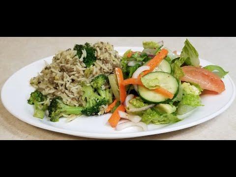 እሩዝ በስጋና በአትክልት(Rice With Ground beef and Vegetable)-Ethiopian Food
