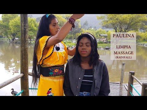 PAULINA, SPIRITUAL CLEANSING ON THE LAKE WITH RAIN NOISE.  ASMR, Hair Cracking, Massage