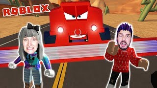 Roblox: FROM CARS TO BE DISINED & LIGHTNING MCQUEEN RETTEN! COMBINE HARVESTER PURSUES NINA &KAAN! Adventure Obby