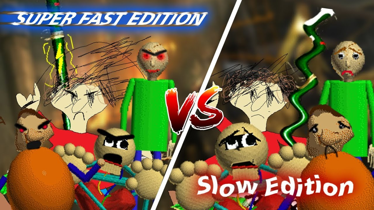 Baldi Basics Super Fast Edition Vs Slow Edition Baldi Basics Mod - ultra update baldis basics 3d rp roblox