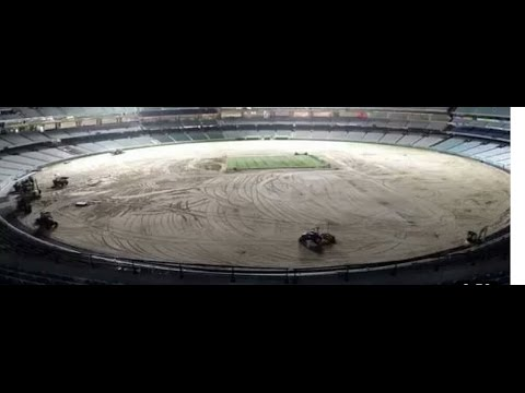 M.chinnaswami stadium resurfacing video | Bangalore