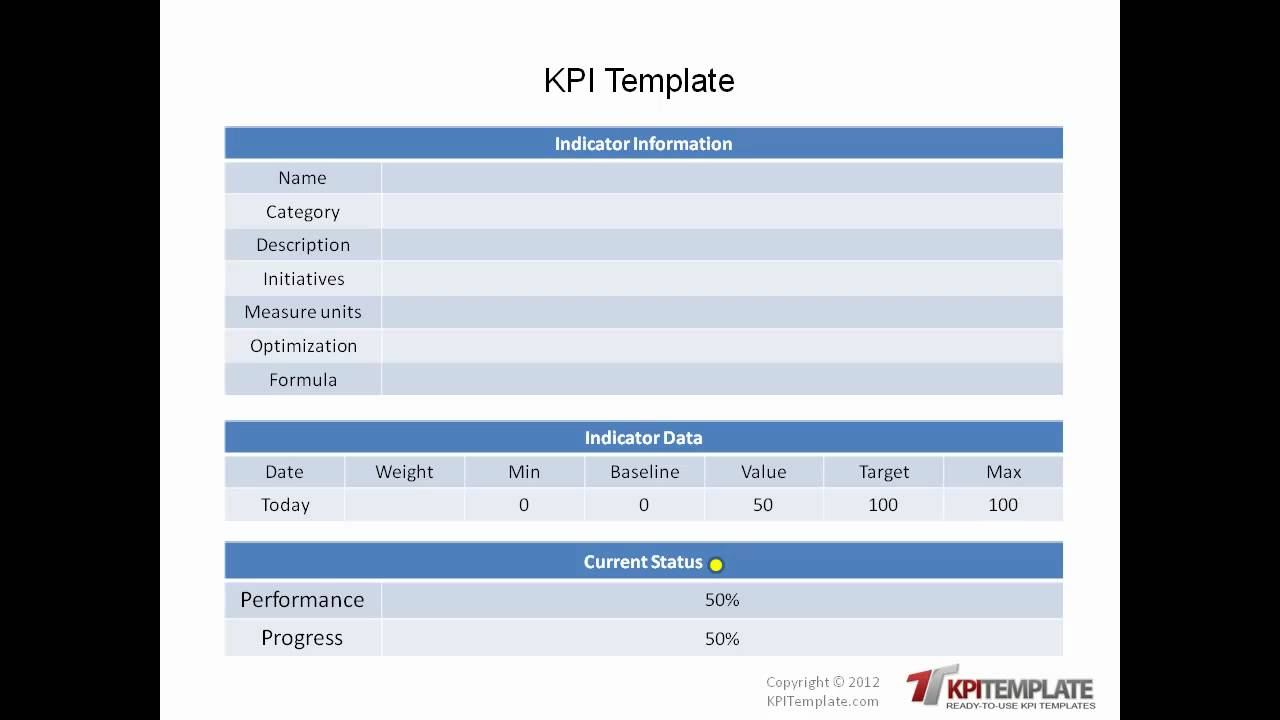 Ready to use kpi templates youtube for Key performance indicator report template