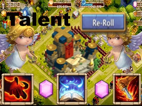 Castle Clash Rolling Gems!! For Talents And Hero...