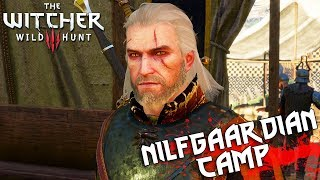 THE WITCHER 3 - Nilfgaardian Army Camp (Blood Ties, Patrol Gone Missing) [4K, 60fps]