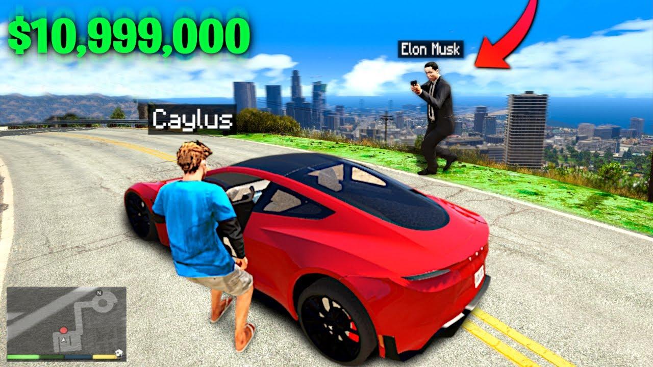 Download I STOLE Elon Musk's TESLA In GTA 5.. (Mods)
